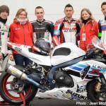 Le Team AZ MOTO  avec Mr Renaud LAVILLENIE